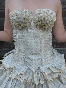Dress made from a book