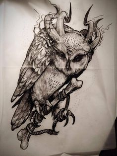 ❤ my spirit animal ❤ Owl Tattoo Drawings, Tatoo Art, Tattoo Henna, Dark Tattoo, Tattoo Sketches, Animal Drawings, Body Art Tattoos, Cool Tattoos, Tatoos