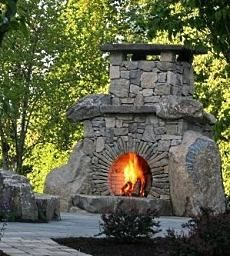 180 Best Outdoor Stone Fireplaces Images Outside Fireplace Garden