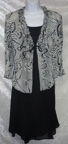 Danny & Nicole Ruffled Jacket & Dress Set 2 pieces women's size 10 NEW  29.99 http://www.ebay.com/itm/Danny-Nicole-Ruffled-Jacket-Dress-Set-2-pieces-womens-size-10-NEW-/231184175661?ssPageName=STRK:MESE:IT