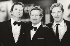 Colin Firth, Gary Oldman and Benedict Cumberbatch - All great actors need I say more?