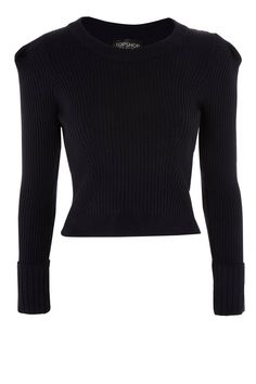 Puff Sleeve Ribbed Sweater by Topshop