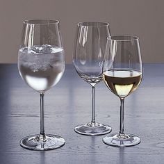 Nora Wine Glasses by Crate & Barrel  18, 16, & 12 oz  The largest sizes they offer!