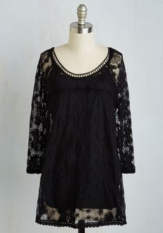 Cottage Couture Tunic in Black, #ModCloth