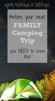 We love to take our kids camping. Not only is it a great way to get outside, get away from technology and into nature, it is a great way to make memories as a family. Camping with kids will bring the whole family closer together!