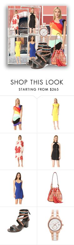 """""""All About The Color!!"""" by stylediva20 on Polyvore featuring Thierry Mugler, Cushnie Et Ochs, TIBI, Moschino, Hervé Léger, Ash and Michael Kors"""