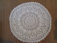 17.5 inch Cream Doily, Round Lace Doily, Elegant Doily, Cream Crochet Doily, Table Decoration, Round Centerpiece, Crochet Placemat, Doilies by SuzannesStitches on Etsy
