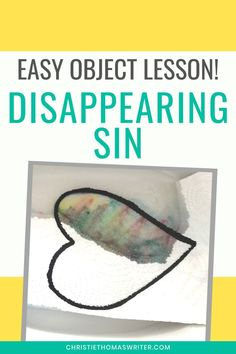 Jul 18, 2020 - A magical disappearing sin object lesson that even young kids can understand. This lesson uses very simple supplies and is perfect for family or church. Kids Church Lessons, Kids Sunday School Lessons, Sunday School Crafts For Kids, Sunday School Activities, Bible Lessons For Kids, Bible For Kids, Children's Sunday School, Youth Lessons, Church Activities
