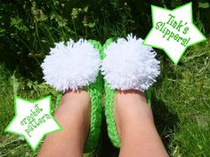Tinkerbell slippers- crocheted