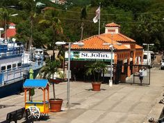 Took the ferry from St. Thomas to St. John. This is where the ferry comes in to Cruz Bay.
