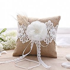 Burlap Lace Feather Wedding Ring Pillow Bearer Rustic Wed... https://www.amazon.co.uk/dp/B00N7CIRSK/ref=cm_sw_r_pi_dp_x_Wid7xbFC3ZFPJ