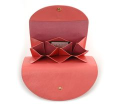 rose pink wallet by i ro se :: Roztayger :: Modern Bags Accessories Leather Wallet, Leather Bag, Small Leather Goods, Luxury Bags, Leather Accessories, Small Bags, Card Wallet, Leather Craft, Bag Making