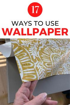 Decorate your home for cheap with these high end decor ideas using wallpaper. Perfect for your living room, bedroom, kitchen and laundry room decor on a budget. #hometalk Handmade Home Decor, Diy Home Decor, Room Decor, Diy Beauty Projects, Diy Home Furniture, Diy Home Accessories, Mirror Makeover, Budget Home Decorating, Vintage Jars