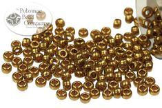 Miyuki Seed Beads - Metallic Light Bronze 11/0 - PotomacBeads.eu Beading Supplies, Seed Beads, Seeds, Metallic, Bronze, Self, Pearl Jewelry, Beads, Grains