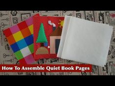 Quiet Book Binding TUTORIAL | Simple Way | Part TWO - YouTube