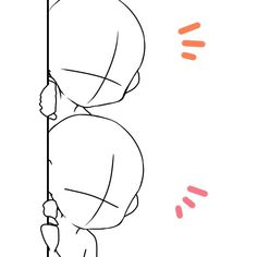 [Drawing] Chibi Pose Reference (Draw the squad) Anime Drawings Sketches, Cute Drawings, Art Tutorials, Drawing Tutorials, Chibi Body, Chibi Sketch, Chibi Drawing, Drawing Templates, Poses References