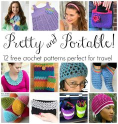 Pretty and Portable! 12 Free Crochet Patterns Perfect For Travel...