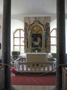 Torpa Stenhuset, Sweden. private chapel by digicanon, via Flickr