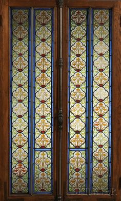 Two Arts & Crafts Stained Glass Doors