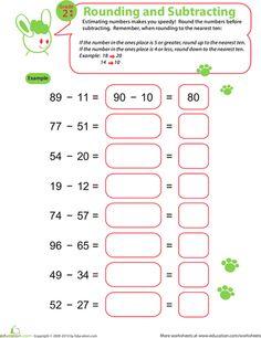 best math images  kindergarten math math classroom teaching math speedy rounding and subtracting teaching fractionsteaching mathteaching  tipsworksheets