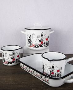 Muumi / Moomin #Muurla Moomin Valley, Tove Jansson, Hygge Home, Slow Living, Kitchen Accessories, Tea Set, Cool Kitchens, Finland, Sweet Home