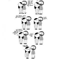 9Charmingly Funny Comics About How WeBehave When inLove