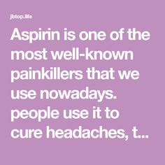 Aspirin is one of the most well-known painkillers that we use nowadays. people use it to cure headaches, toothaches etc. But some people do not know that aspirin has other uses and benefits to our home and even to our health. Health And Wellness, Health And Beauty, Health Fitness, Remove Sweat Stains, Aspirin, Home Remedies, Helpful Hints, Benefit, Beauty Hacks