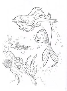 Free Little Mermaid Coloring Pages Make your world more colorful with free printable coloring pages from italks. Our free coloring pages for adults and kids. Ariel Coloring Pages, Mermaid Coloring Book, Alphabet Coloring Pages, Coloring Pages To Print, Coloring Book Pages, Free Coloring, Coloring Pages For Kids, Coloring Sheets, Kids Coloring