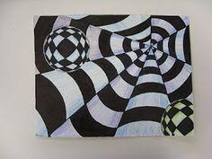 ART with Mrs. Smith: Op Art, Spheres & Cones