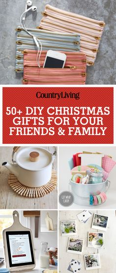 Make sure to pin this graphic to save all of our of creative and crafty Christmas gifts. Follow Country Living on Pinterest to catch all of our holiday ideas!