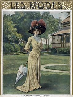 Drecoll 1909 Dress for the Races, Fashion Photography, Felix