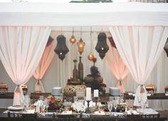 Arabian Nights....i could go on! Beach Wedding Reception, Reception Design, Wedding Night, Chic Wedding, Wedding Table, Our Wedding, Dream Wedding, Eclectic Wedding, Moroccan Party