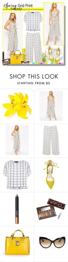 """""""Spring Trend: Grid Print"""" by teah507 ❤ liked on Polyvore featuring MOOD, ASOS, Glamorous, Myne, Steve Madden, NARS Cosmetics, Urban Decay, Gianni Bini and Tom Ford"""