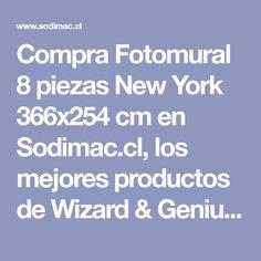 Compra Fotomural 8 piezas New York 366x254 cm en Sodimac.cl, los mejores productos de Wizard & Genius - 3355373. Shopping, Tents, Index Cards, Get Well Soon, Products