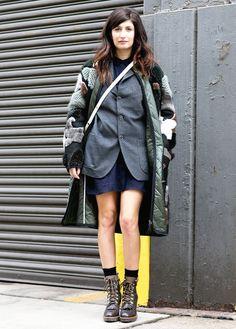 Streetstyle на Неделе моды в Нью-Йорке. День последний | VOGUE