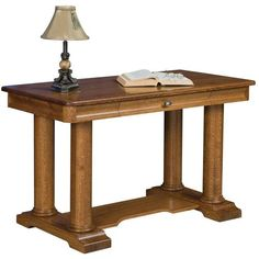 Amish Madison Library Table ($1,132) ❤ liked on Polyvore featuring home, furniture, tables, accent tables, temple furniture, amish tables, writing desk, drawer furniture and drawer table