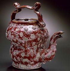 George E. Ohr   Teapot ( 1857-1918 ) Biloxi Mississippi