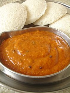 ginger chutney called as allam pachadi or allam chutney in telugu can be made ahead and refrigerated for 2 days. This is a simple chutney recipe for pesaratt. Indian Food Recipes, Vegetarian Recipes, Cooking Recipes, Ethnic Recipes, Ginger Chutney Recipe, Indian Breakfast, Indian Dishes, Food To Make, Gastronomia