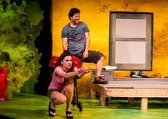 Summer Spiro and Jeffrey Jones in San Diego REP's production of DETROIT by Lisa D'Amour, directed by Sam Woodhouse.