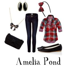 An outfit set I made: inspired by Doctor Who's Amy Pond :)