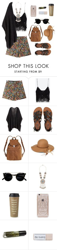 """""""Coachella '16 Day 3"""" by fashionstronger ❤ liked on Polyvore featuring Chicnova Fashion, Zara, H&M, Billabong, BAGGU, Steve Madden, Turkish Delight, Kate Spade and Rifle Paper Co"""