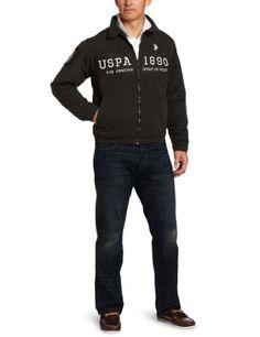 U.S. Polo Assn. Men's Chest Color-Block Golf Jacket