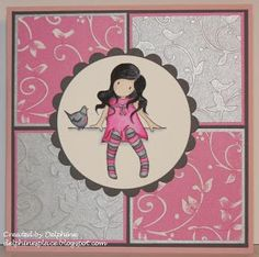 Delphine's place: SN Gorjuss Girls Little birdie pink & grey