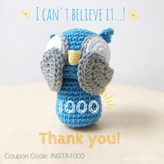 Wow!! Over 1000 followers on Instagram! As a big thank you I have a coupon code you can use to get a 10% discount Feel free to share this code with all your friends✨Valid until 31 March 2017