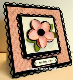 Thinking of You card made by Karen Barber with Stampin' Up! products only!