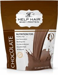 Help Hair Shake Chocolate Flavor - Whey protein shake for hair growth.  Recommended by Worldwide Hair Loss Physicians!