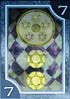 Persona 3/4 Tarot Card Deck HR - Suit of Coins 7 by Enetirnel