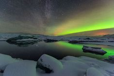 """by Iurie Belegurschi on """"Merry Christmas! We been lucky enough to photograph Milky Way, Aurora and Volcano Glow from Holuhraun eruption in same shot during our Iceland Winter Photo Workshop"""" Guide To Iceland, Tours In Iceland, Iceland Photos, 2 Days Trip, Cave Tours, Winter Photos, Vacation Packages, Milky Way, Holiday Travel"""