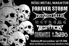 U subotu, 09. novembra od 19:30h u klubu Juridicum na Pravnom fakultetu biće održan prvi niški heavy metal maraton, na kojem će nastupiti be...