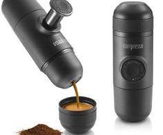 Buy Minipresso GR - Portable Espresso Maker online and save! Wacaco Minipresso – Portable Espresso Maker (Ground Coffee Version) Whether you plan to go hiking, camping, boating, or stay in a hotel, Minipresso c. Machine A Cafe Expresso, Espresso Coffee Machine, Espresso Maker, Cappuccino Machine, Star Wars Droid, Coffee Beans, Coffee Cups, Coffee Coffee, Nitro Coffee